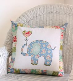 How cute is Ella the Elephant Pillow designed by @aspoonfulsugar. Created in Tilda's new Circus collection available in stores April 1st. This brand new pattern is available for download www.etsy.com/shop/aspoonfullofsugar #ilovetilda #tildacircus #tildafabrics #aspoonfullofsugardesigns