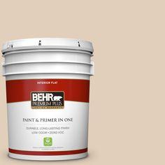 BEHR Premium Plus 5-gal. #pwn-66 Toasted Cashew Zero VOC Flat Interior Paint