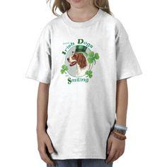 St. Patrick's Day Irish Red & White Setter Shirt