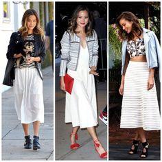 jamie chung white skirt