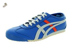 Onitsuka Tiger Mexico 66 Classic Running Shoe, Strong Blue/Soft Grey, 7.5 M US - Onitsuka tiger sneakers for women (*Amazon Partner-Link)