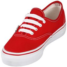 Vans VN-0EE3RED Authentic Red Low Top Casual Shoe @$59.99 ! Buy now at GetShoes.ca