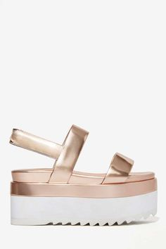 Elly Clay Laight Metallic Flatform