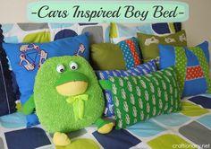 Boy Bedroom Pillows- Cars Themed DIY