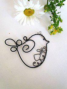 Dekorácie - vrabček ☘ - 5547147_ 3d Pen, Wire Crafts, Wire Art, Metallica, Beads, Deco, Tattoos, Handmade, Christmas