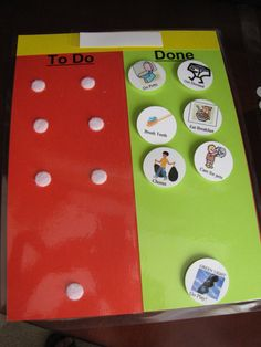 morning routine chart - use Velcro and they can move the pictures once the task is accomplished!