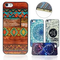 Dirt-resistant Shock Proof Phone Case Cover 5 5S  Phone shell National Style Custom Printed Hard PC Black Plastic Protective