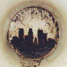 Had enough coffee sludge at the bottom of my cup to make the Minneapolis skyline. Brock Davis