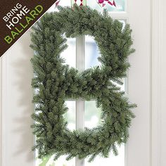 Spruce Alphabet Wreath