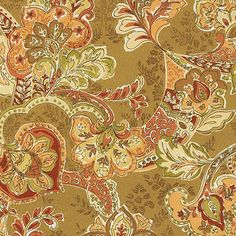 Tuscan Vine EasyCare Fabric by the Yard - traditional - upholstery fabric - Ballard Designs