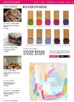 Jennifer Jackson of @DailyCandy gave us an awesome review: Never Break a Nail Again, 10/30/2013 #nails #nailpolish