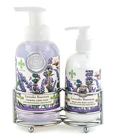 Lavender Rosemary Soap & Lotion Caddy Set