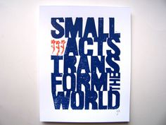 Truth :: LINOCUT PRINT by the big harumph on etsy