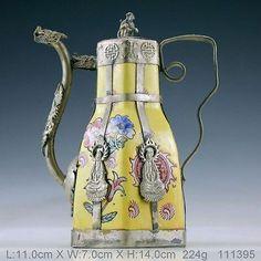 Chinese Vintage Handwork Porcelain Kwan Yin Monkey Teapot 111395   eBay
