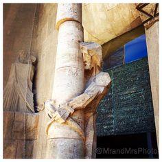 Sagrada Familia facade statues. #Christianity #church #basilica #Barcelona #antonigaudi #architecture #architectureporn #archilovers #building #sagradafamilia #design #travelphotography #Catalunya #perspective #city #smugmug #jesus #iPhone #photooftheday
