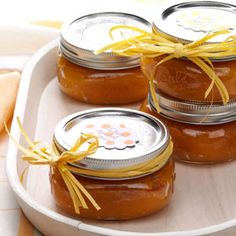 Easy Apricot Jam from Taste of Home  Ingredients:16oz dried apricots, 2-1/2 cups orange juice,3/4 cup sugar,1 tbsp lemon juice,1/2 tsp ground cinnamon,1/4 tsp ground ginger.Directions: In a large kettle, combine the apricots,orange juice and sugar;bring to a boil. Reduce heat;cover and simmer for 30 mins.Stir in the lemon juice,cinnamon and ginger.Remove from the heat and cool to room temperature Puree in a food processor or blender until smooth.Spoon into jars or freezer…