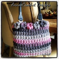 Flower Girl Crochet Handbag