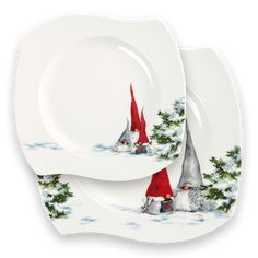 Nick Nacks, Gnomes, Plates, Decoration, Tableware, Illustration, Inspiration, Wings, Licence Plates