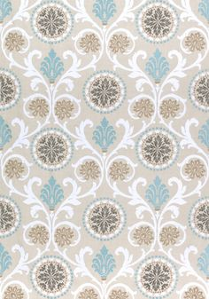BANYAN EMBROIDERY, Aqua, W764100, Collection Caravan from Thibaut