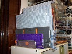 CRAFT ROOM - ruler & mat organizer from letter holder