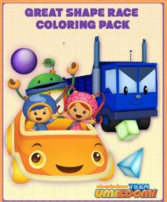 Check out this coloring pack featuring Team Umizoomi in the Great Shape Race!