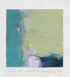 "Feb. 20, 2018 9 cm x 9 cm (app. 4"" x 4"") oil on canvas © 2018 Hiroshi Matsumoto www.hiroshimatsumoto.com"