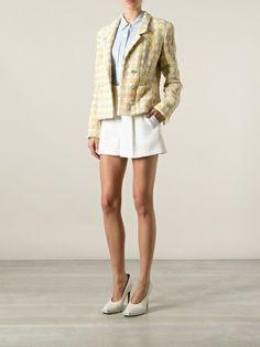 ca8cf2085ca809 Chanel Vintage - checked bouclé jacket 8 Boucle Jacket