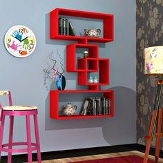 Rafline Harmony Duvar Rafı Kırmızı - Enmodelleri Cheap Home Decor, Diy Home Decor, Boys Room Design, Wall Shelves Design, Bookcase Shelves, Home Decor Furniture, Floating Shelves, Wall Decor, Living Room