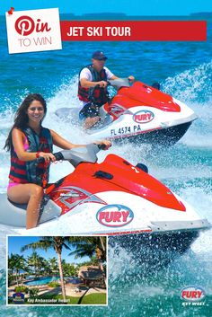 Repin this image and include the tag #FuryFreebie to win a Key West Vacation for 2! Your trip will include this Jet Ski Tour plus 5 days/4 nights at the Key West Best Western Key Ambassador Resort. Make sure to repin by 09/30/2015 to be entered!