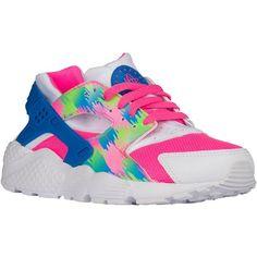 nike running shoes deals,Nike Huarache Run - Girls' Grade School - Running  - Shoes - Pink Blast/Photo Blue/Electric Green/White