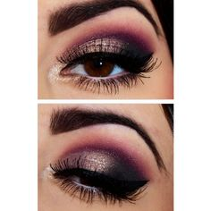 10 Gold Smoky Eye Tutorials for Fall ❤ liked on Polyvore featuring beauty products, makeup, eye makeup and eyes