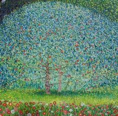 'Apple Tree' Gustav Klimt Detail of the painting and his style of painting, particularly landscapes Gustav Klimt, Klimt Art, Art Et Illustration, Illustrations, Paintings I Love, Art For Art Sake, Art Plastique, Tree Art, Oeuvre D'art