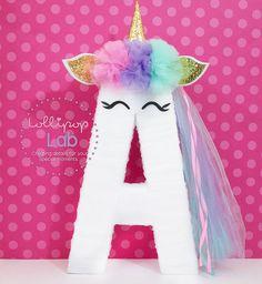 Unicorn letter decoration