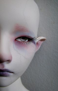 I was recently asked to paint a winter themed face-up for a feature on BJDcollectasy.Solomon was the lucky boy who got to participate You can read the. Clay Dolls, Doll Toys, Dolls Dolls, Bjd, Broken Doll, Shadow Puppets, Creepy Dolls, Doll Repaint, Magical Creatures
