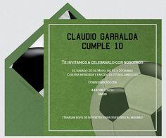 Sport Party Football Tailgating Soccer Online Invitations: www.LaBelleCarte.com  Fiesta deportes futbol balon, invitaciones virtuales: www.LaBelleCarte.com