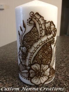 Henna candle, mehndi, candle