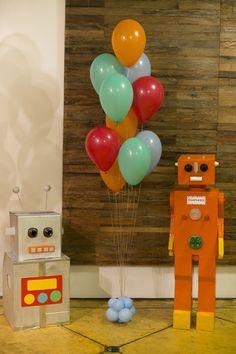 tema para festa de aniversário: robôs