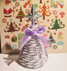 Lavender and white Christmas tree for your AG dollhouse.