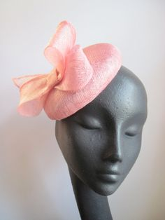 Womens Cocktail Hat Pink Sinamay Sequins Wedding by MindYourBonce, £47.00