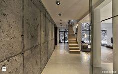 Projekt wnętrz domu w Bukownie - Hol / przedpokój, styl minimalistyczny - zdjęcie od MONO architektura wnętrz Katowice