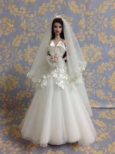 Bestty Doll Gown Outfit Dress Fashion Royalty Silkstone Barbie Model Doll FR