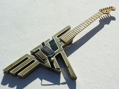 Look. I liked em, too, but... Custom Charvel Van Halen logo guitar