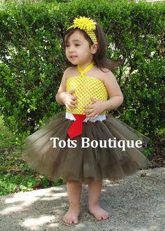 Toddler Spongebob Inspired Tutu Dress by TotsBoutique on Etsy, $40.00