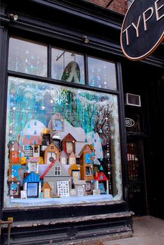 Type Books is known throughout the city for its gorgeous windows, designed by display artist Kapna Patel, and this year's Christmas display didn't disappoint. | Design: Kapna Patel Photo: Meg Crossley