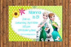 New to DotcaShop on Etsy: Personalized | It's a Frozen Fever inspired birthday! (8.53 CAD)