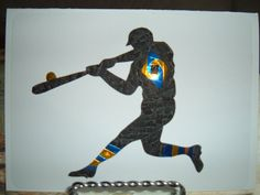 Iris Folding Baseball Player Silhouette done by DeesGreetingCards, $4.50