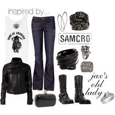Inspired By... Sons of Anarchy!, created by alowens on Polyvore Love love love this. I want all this!!!!!!!!