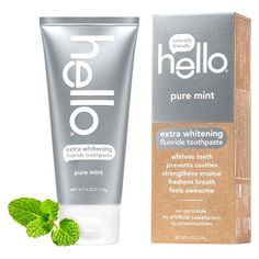 hello Adult Fluoride Whitening Toothpaste Pure Mint 4.2oz I received this free to try with Smiley360 and fell in LOVE. Didn't realize it was available at target. So exciting
