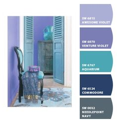 Instantly turn any picture into a palette with ColorSnap, created for you by Sherwin-Williams. Purple Color Palettes, Blue Colour Palette, Colour Schemes, Color Combos, Color Trends, Periwinkle Bedroom, Periwinkle Color, Bedroom Colors, Wall Colors