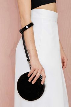 Nasty Gal x Nila Anthony Cute as a Button Wristlet Clutch